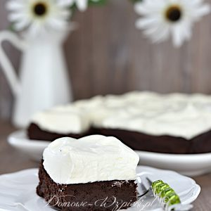 Brownies z kremem mascarpone (low carb, keto)